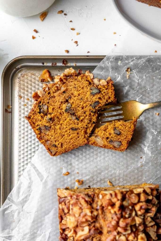 walnut pumpkin bread